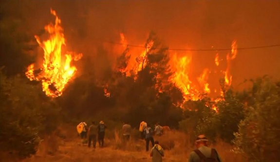 Yunanistan'da son 24 saatte 39 yangına müdahale edildi