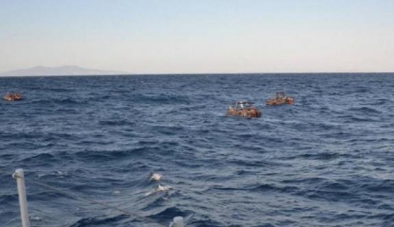 74 göçmen Ege Denizi açıklarında kurtarıldı