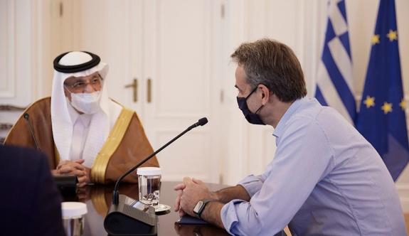 Mitsotakis, Atina'da Suudi yatırım bakanı ile görüştü