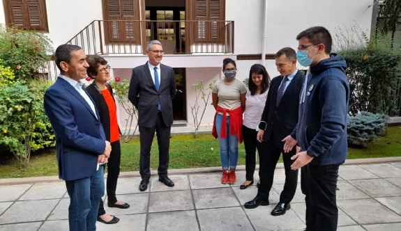 BioNTech'in kurucu ortakları Türeci ve Şahin Atatürk Evi'ni ziyaret etti