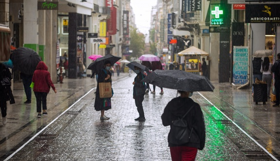 Bugün de Yunanistan'da yağışlı hava hakim olacak